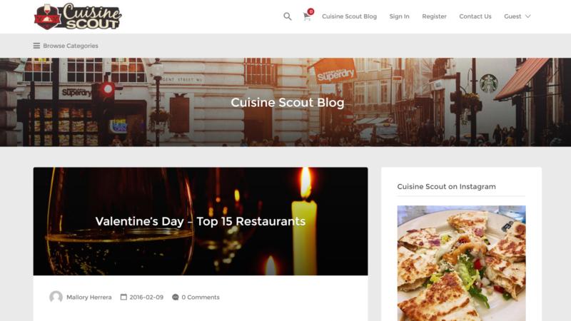 Cuisine Scout DSE Creative